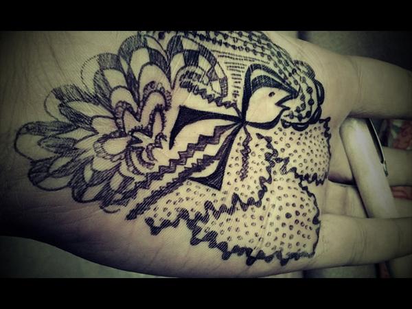 Drawings on skin